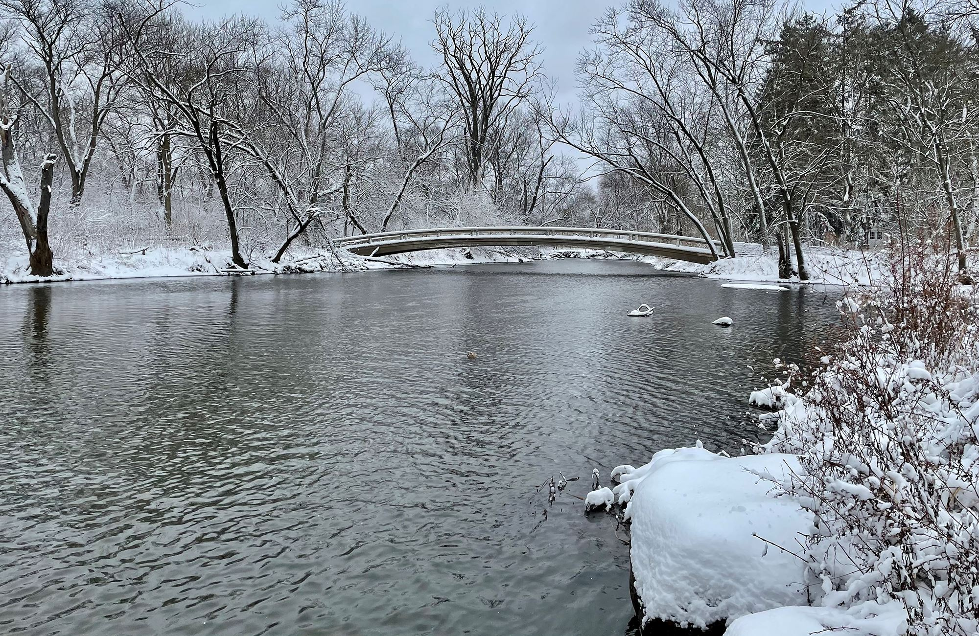Photo of the Warrenville Bridge in Winter
